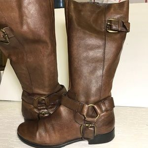 Nine West riding boots 9 brown leather